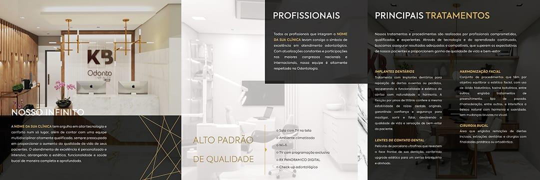 Folder parte interna - MODELO 1